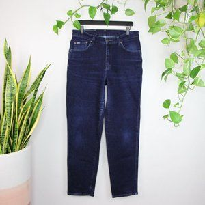 Vintage Lee High Waisted Dark Wash Jeans Size 32